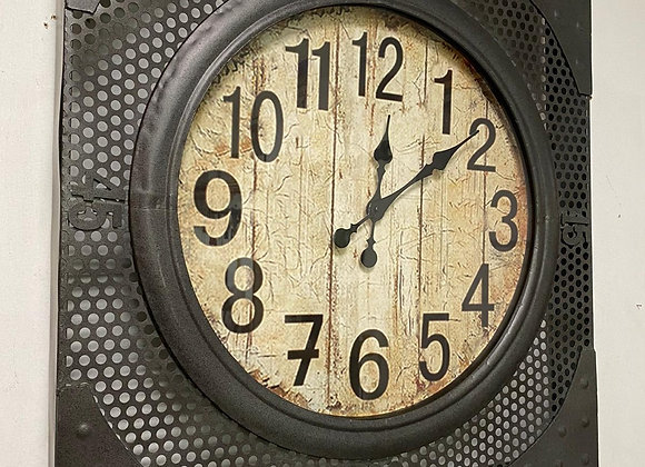 Large 70cm Industrial Urban Wall Clock Rustic Metal Mesh design 70 cm Square