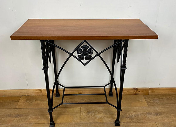 Industrial Chic Console Table on Cast Iron Base