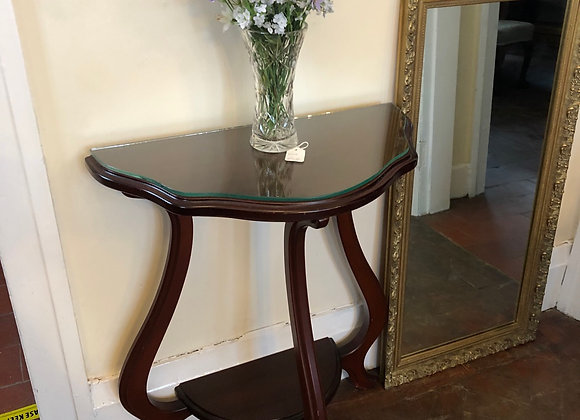 Small Console Table Glass protective Top