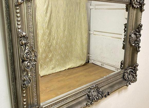 Large Silver Rectangular Mirror