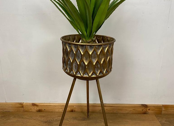 Planter with legs Round flower pot stand - Height 66cm
