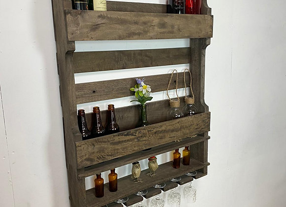 Industrial Wall Hanging Bottle Glass unit