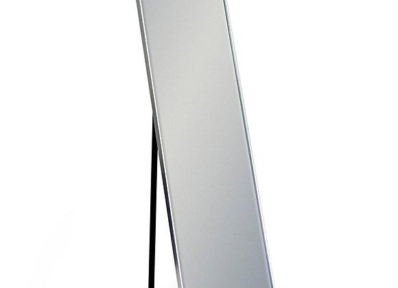 Silver Framed Rectangular Cheval Dressing Mirror