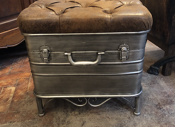 Iron French Style Ottoman Storage Stool - Postage Available