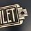 Thumbnail: Art Deco Style Plaque Cast Iron Toilet Sign
