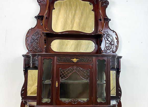 Large Victorian Mirror Back Sideboard