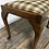 Thumbnail: Vintage Cabriole Leg Dressing Or Piano Stool Re- Upholstered