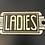 Thumbnail: Art Deco Style Plaque Cast Iron Ladies Sign