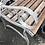 Thumbnail: Beautiful Metal Garden Bench Wooden Seat