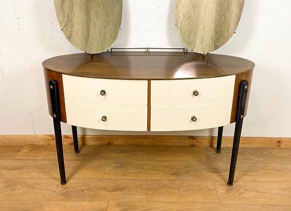 Retro Dressing Table with Mirrors