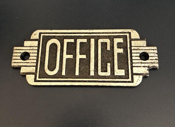 Art Deco Style Plaque Cast Iron Office Sign