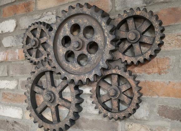 Industrial Art Wall Hanging Gears Cog