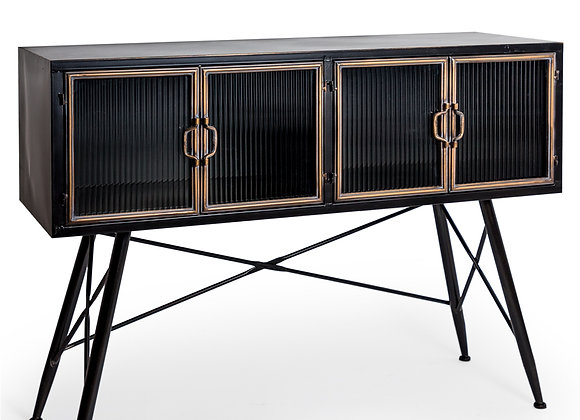 """Stunning Black and Antique Gold """"Orwell"""" Cabinet / Sideboard"""