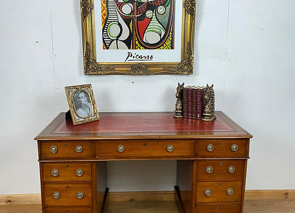 Antique Twin Pedestal Desk