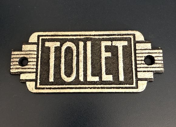 Art Deco Style Plaque Cast Iron Toilet Sign