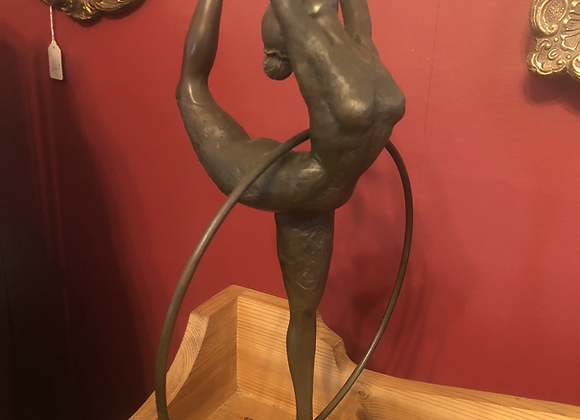 A Bronze Garanti Sculpture of a Hoop Dancer