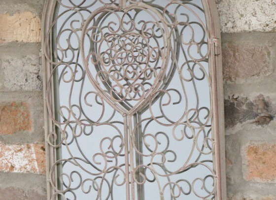 Small Arched Rustic Garden Mirror Height 50cm