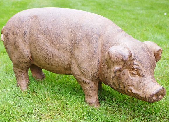 Standing Pig Lawn Ornament Statue Garden/Patio Feature Outdoor H 37cm