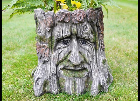Tree Stump Resin Pot Planter Indoor Outdoor Plants Flowers Herbs