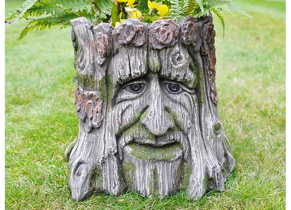 Tree Stump Resin Pot Planter Indoor Outdoor Plants, Herbs- Postage Available
