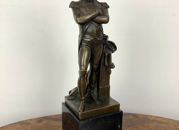Bronze Garanti Sculpture of Napoleon on Marble Base