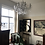 Thumbnail: Beautiful Crystal 8 Branch Shallow Chandelier in Silver