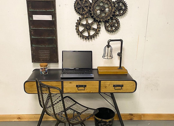 Industrial Urban Style Metal and Wood Desk