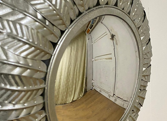 Convex Silver Leaf Sun Mirror