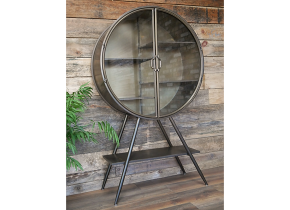 Industrial Style Metal Display Cabinet