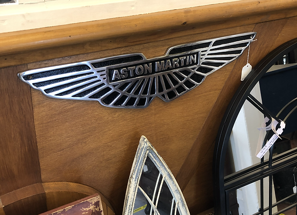 Large Aluminium Aston Martin Wall Plaque