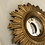 Thumbnail: Small Gold Sun Design Convex Mirror - Frame Size 18cm