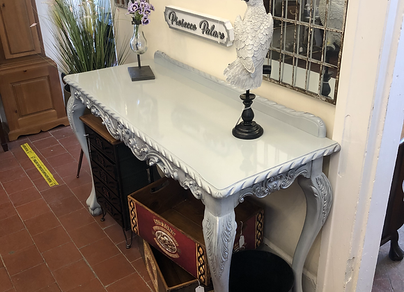 Vintage Console Table in Grey