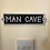 Thumbnail: Cast Iron Man Cave Wall / Door Plaque Sign 21.5cm x 5.5cm - Postage Available