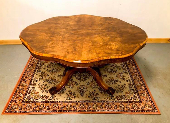 Victorian walnut flip top breakfast table