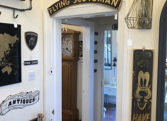 "Large Cast Iron Flying Scotsman Sign 35"""