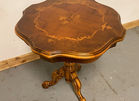 Vintage inlaid occasional lamp / wine table