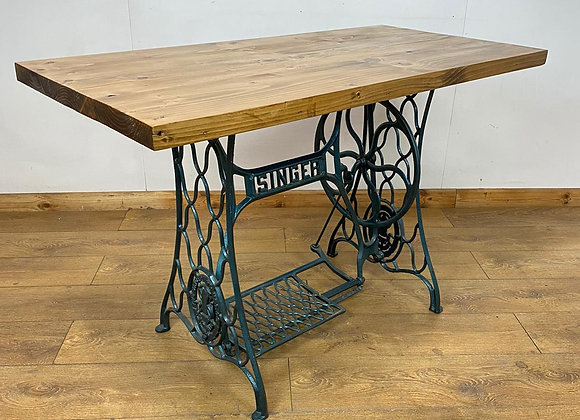 Industrial Chic Table / Desk on Cast Iron Sewing Table Base