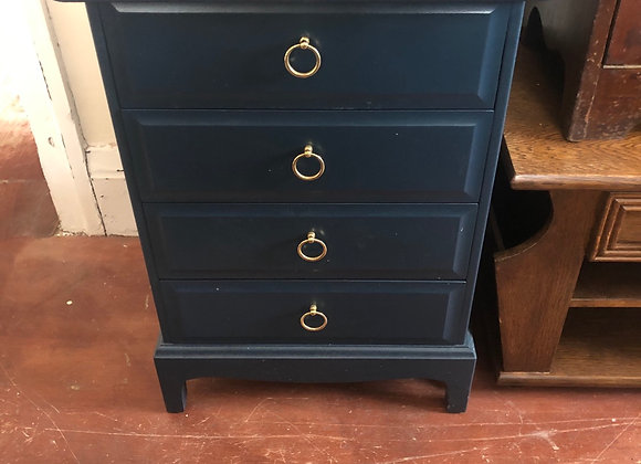Small Chest painted in naval blue