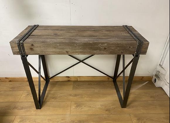 Industrial Wood Effect Desk / Console