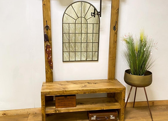 Industrial Chic Wooden Hall Stand