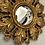 Thumbnail: Small Gold Sun Design Convex Mirror - Frame Size 20cm