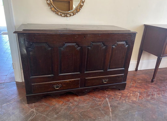 Antique Large Oak Coffer/Mule Chest