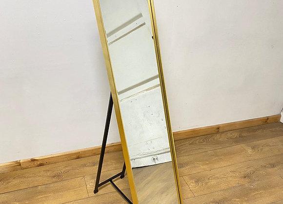 Gold Framed Rectangular Cheval Dressing Mirror