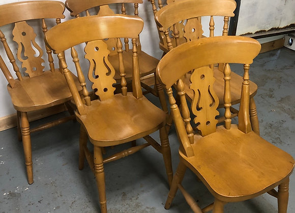 Set of 6 farmhouse style chairs