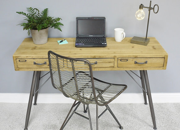 Industrial Urban Style Wooden Desk with Metal Legs