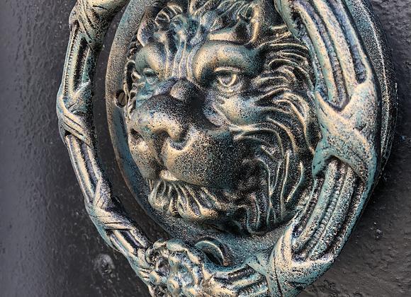 Large Cast Iron Lion Door Knocker