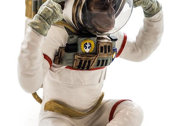 Monkey Astronaut Figurine - Hear No Evil
