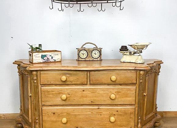 Vintage Farmhouse Pine Sideboard
