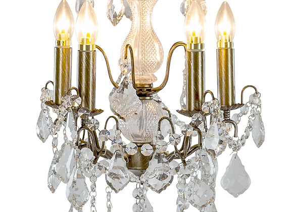 Beautiful Crystal 5 Branch French Chandelier