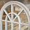 Thumbnail: Arched Mirror Distressed White Finish Window Shape